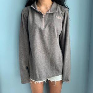 Gray North face 1/4 zip hoodie